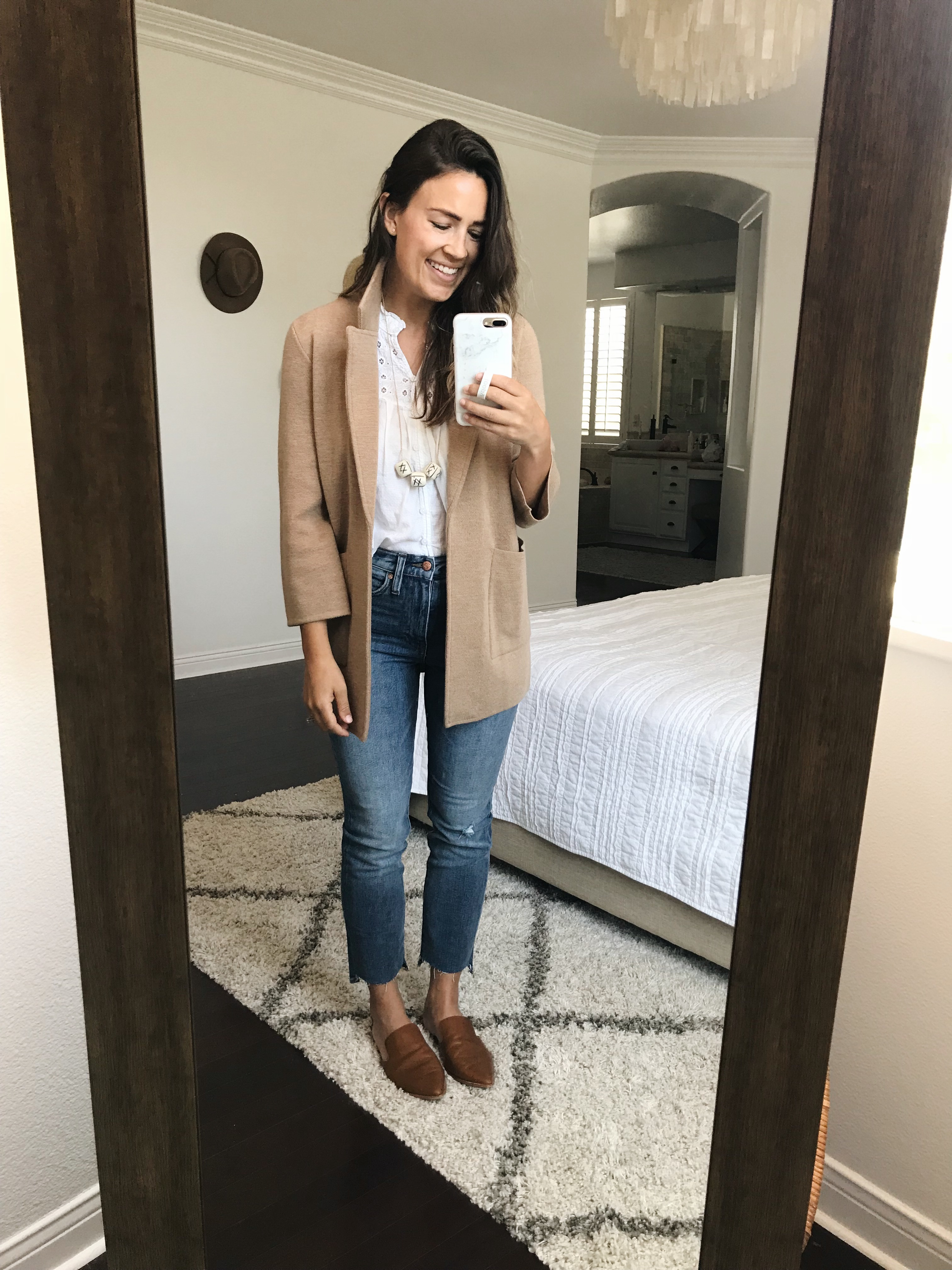7c0e7cb0bb7 Jeans   Similar white lace top   Another similar white lace top   Sweater  blazer (TTS or size down—this is so versatile and definitely one of my  closet ...