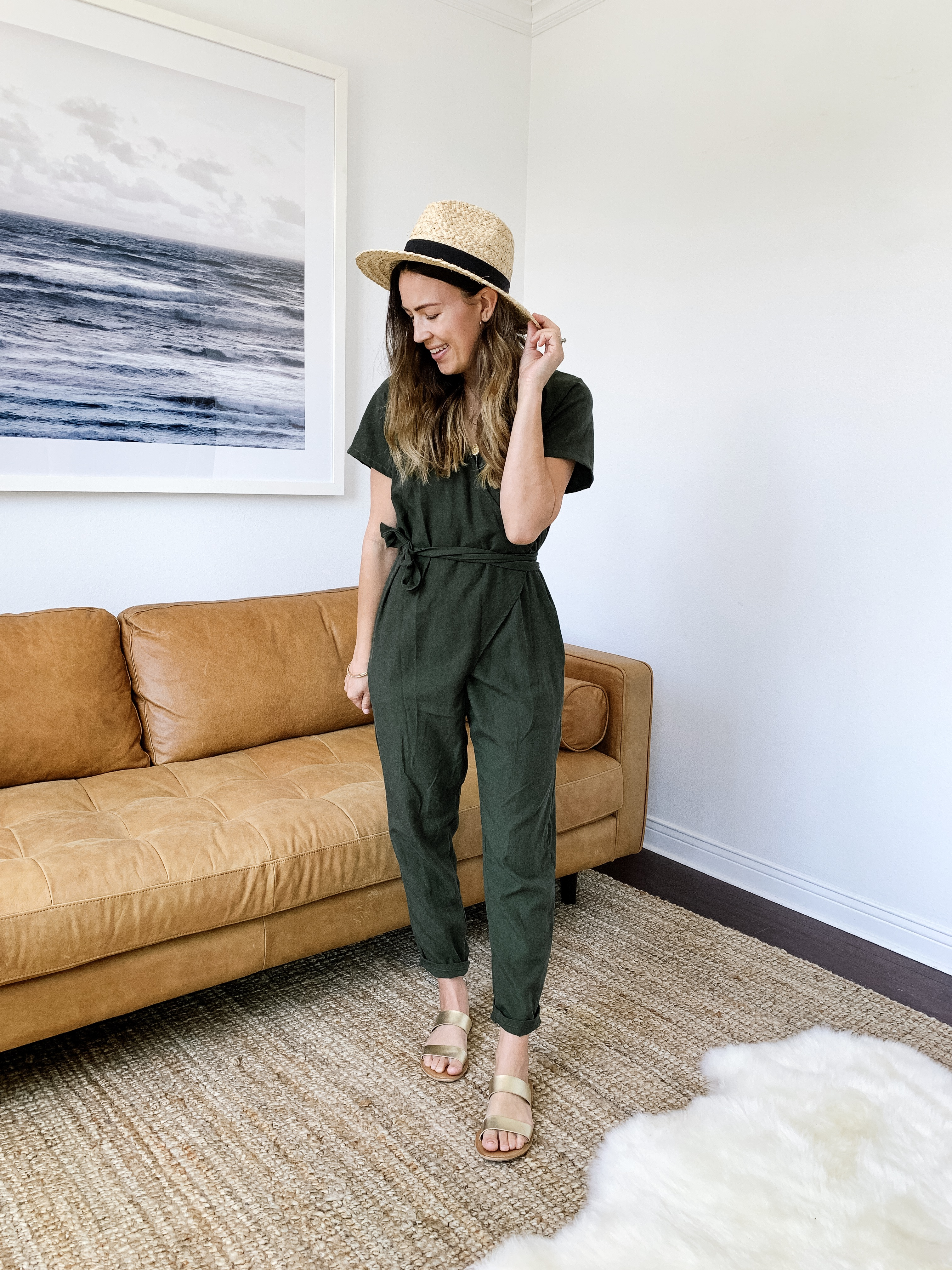 f4a7ce77e7c Jumpsuit (c o)   Similar Hat   Sandals (and similar)